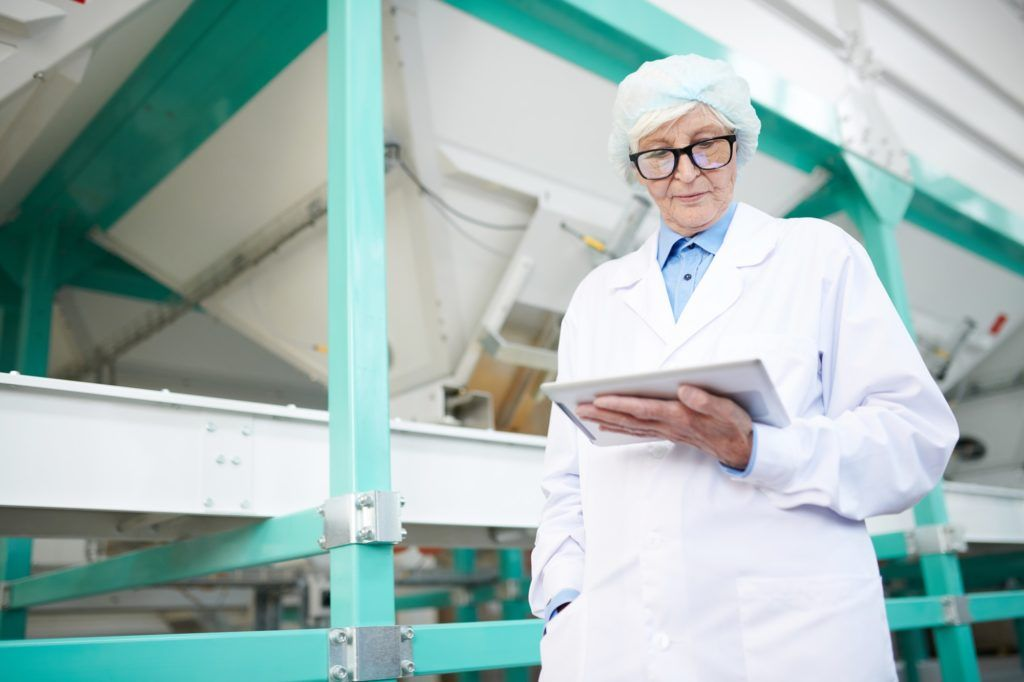 Senior Woman Managing Production